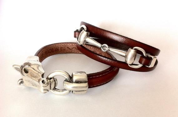82007a27d41f Bracelet bracelets couple bracelet mors de cheval   Etsy