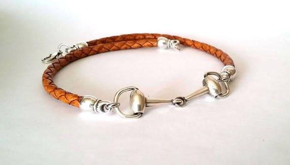 snaffle bit chokerl women choker beaded choker Horse Necklace equestrian jewelry zamak necklace gift for horse lovers horse jewelry
