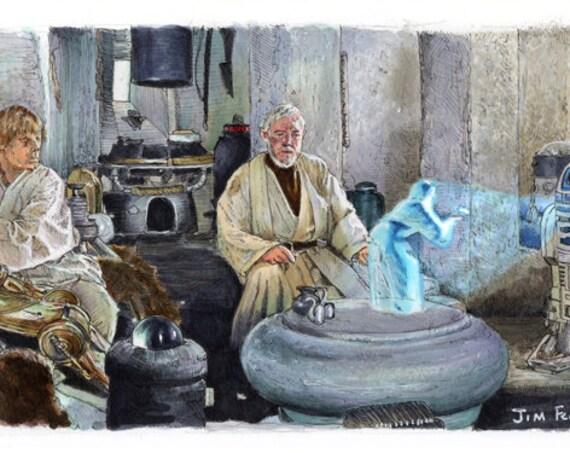 Star Wars A New Hope - Help me, Obi-Wan Kenobi You're my only hope
