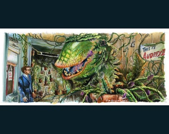 ed0ed8283 Little Shop of Horrors - Feed Me Poster Print