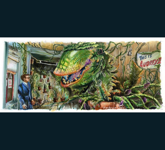 Little Shop of Horrors - Feed Me Poster Print By Jim Ferguson