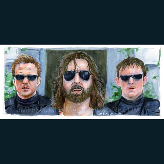 "Boondock Saints - There was a Fire Fight 5""x11"" Poster Print By Jim Ferguson"