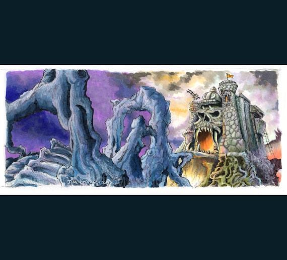 Heman - Castle Greyskull Poster Print By Jim Ferguson