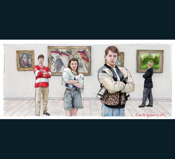 Ferris Bueller's Day Off - At the Museum Poster Print By Jim Ferguson
