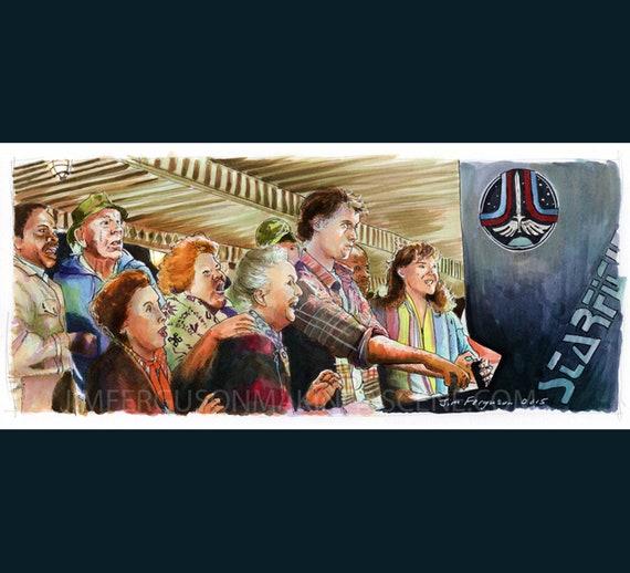 The Last Starfighter - Greeting Starfighter Print By Jim Ferguson