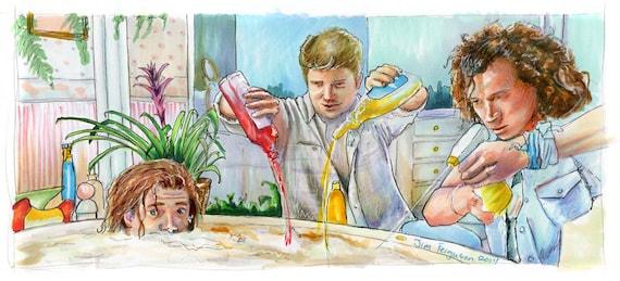 Encino Man - He Needs a Bath Poster Print