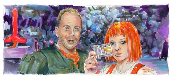 Fifth Element - Leeloo Dallas Multipass Poster Print
