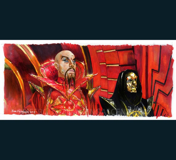 Flash Gordon - Klytus, I'm bored art Print By Jim Ferguson