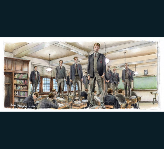 Dead Poets Society - Oh Captain My Captain Poster Print By Jim Ferguson