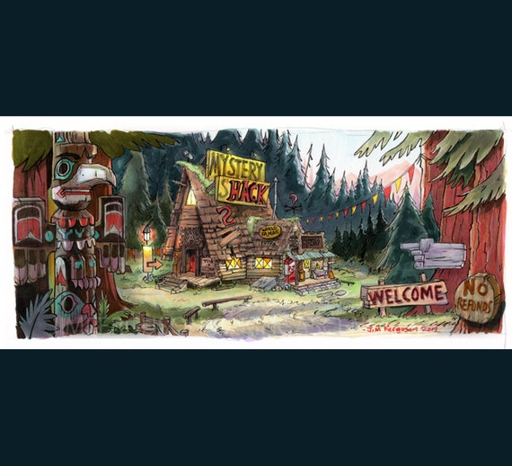 Gravity Falls - The Mystery Shack Poster Print By Jim Ferguson