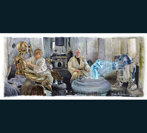 Star Wars A New Hope - Help me, Obi-Wan Kenobi You're my only hope By Jim Ferguson