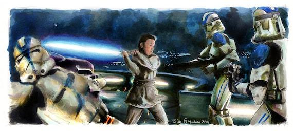 Star Wars - Revenge of the Sith - Zett Jukassa Poster Print