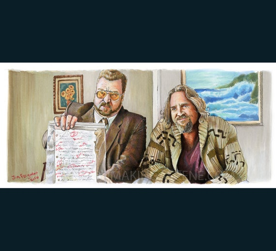 The Big Lebowski - You're killing Your Father Larry  Poster Print By Jim Ferguson