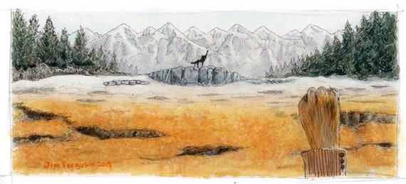 Fantastic Mr Fox - Canis Lupus, Vulpes Vulpes Wes Anderson print