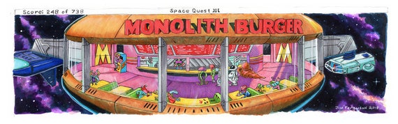 Shipped to Canada Space Quest III - The Monolith Burger By Jim Ferguson