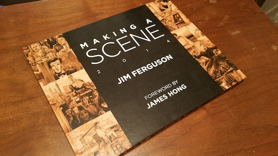 Making a Scene - Jim Ferguson 2014 Movie scene art book.