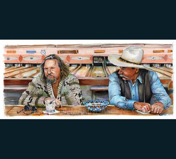 """The Big Lebowski - Sometimes You Eat the Bar 5""""x11"""" Poster Print By Jim Ferguson"""