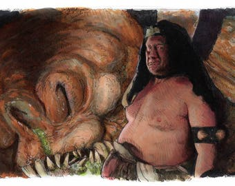 Star Wars- Return of the Jedi - Rancor Keeper Poster Print