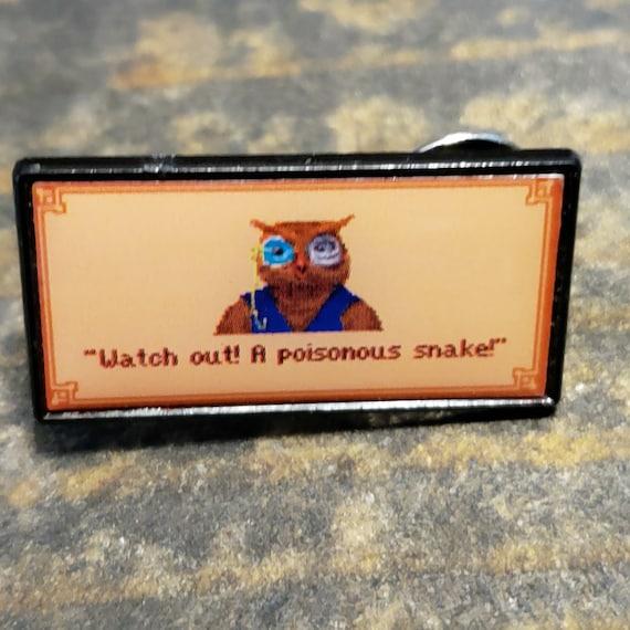 King's Quest V - Cedric the Owl enamel pin By Jim Ferguson