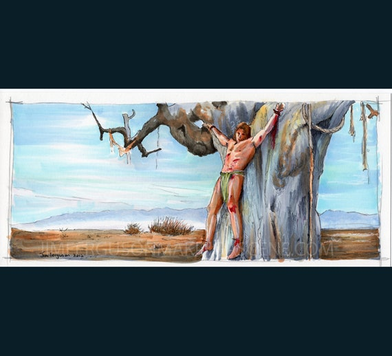 "Conan the Barbarian - Tree of Woe 5""x11"" Poster Print By Jim Ferguson"