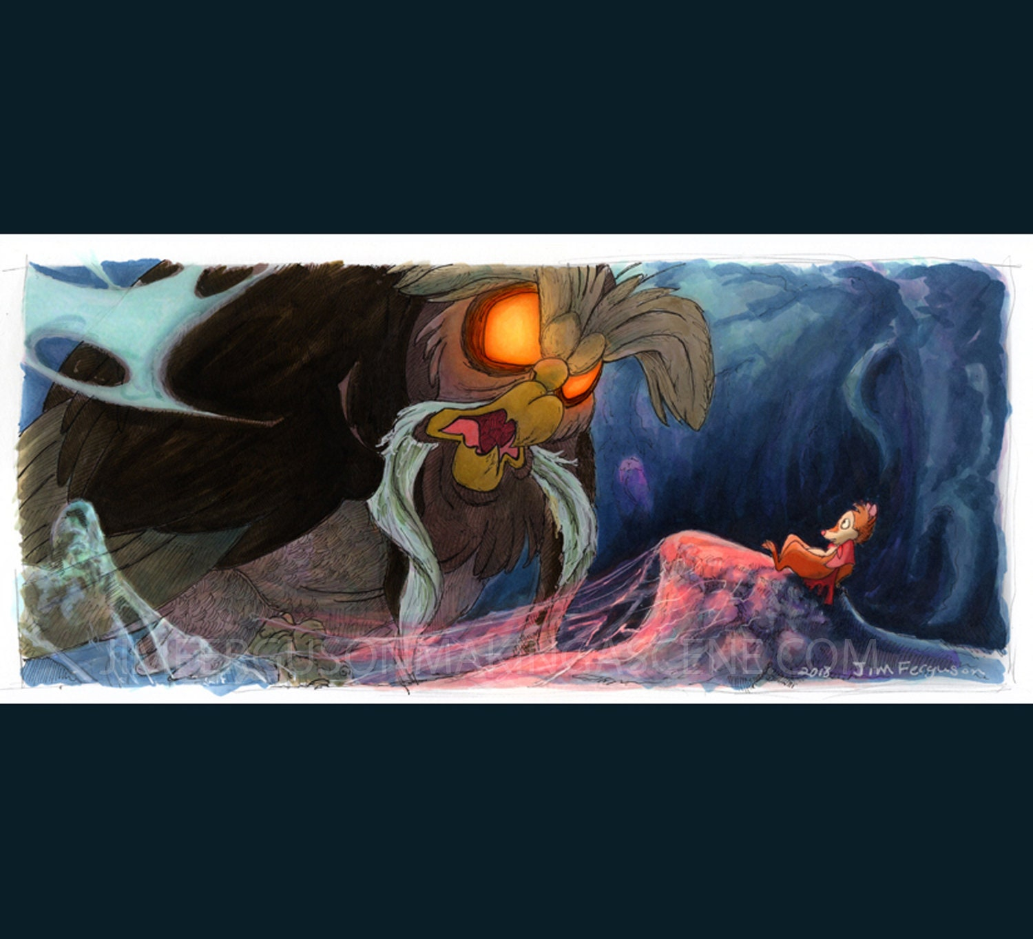 The Secret Of Nimh The Great Owl Print
