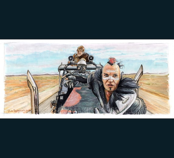 Mad Max - The Road Warrior - Wez  Print By Jim Ferguson