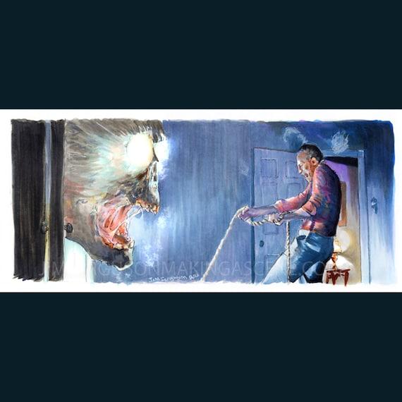 Poltergeist - Closet Ghost  Art Poster Print By Jim Ferguson
