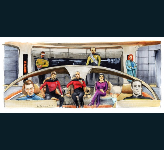 Star Trek  The Next Generation 25th Anniversary - Make it So.  Poster Print