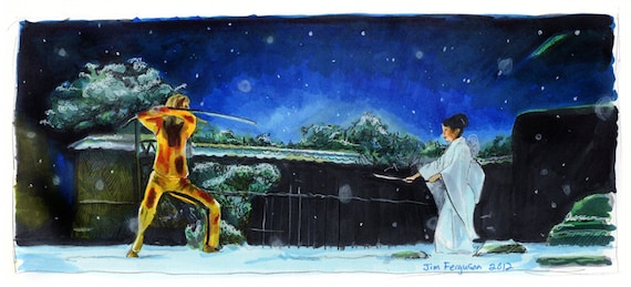 Kill Bill - Showdown at the House of Blue Leaves Poster Print
