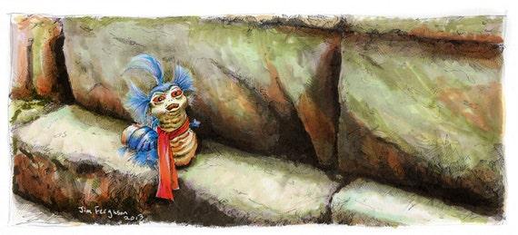 Labyrinth - Worm Ello Poster Print By Jim Ferguson