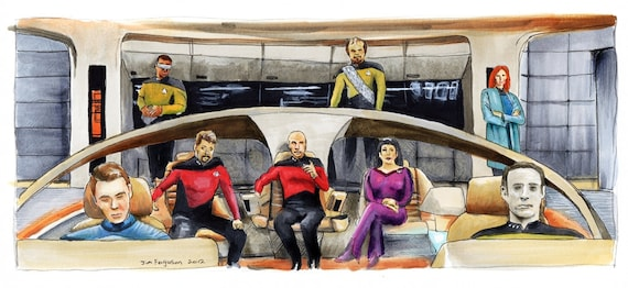 "Star Trek  The Next Generation 25th Anniversary - Make it So.  5""x11"" Poster Print"