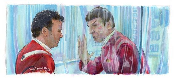 "Star Trek II: The Wrath of Khan - I have been and always shall be your friend 5""x11"" Poster Print"