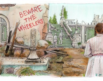 Return to Oz - Beware the Wheelers Print