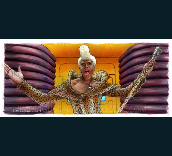 Fifth Element - Ruby Rhod Poster Print By Jim Ferguson