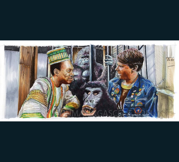 Trading Places - Merry New Year Poster Print By Jim Ferguson
