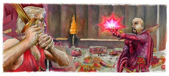 Flash Gordon - Death to Ming Poster Print