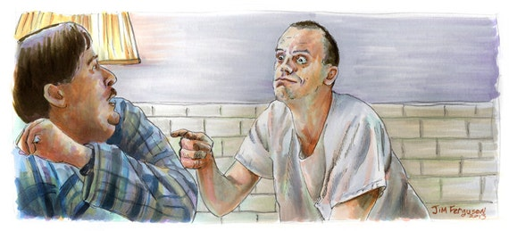 One Flew Over the Cuckoo's Nest - Come On Play the Game Poster Print