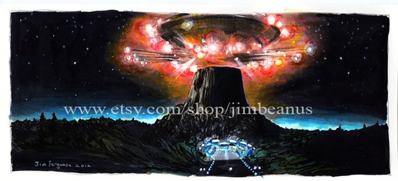 "Close Encounters of the Third Kind - ""Contact""  Poster Print"