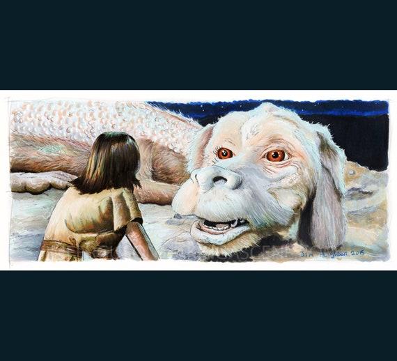 Neverending Story - Falkor Print By Jim Ferguson