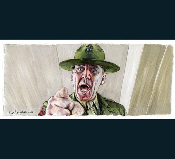 Full Metal Jacket - Gunnery Sergeant Hartman Print