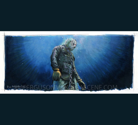 Friday the 13th Part VI - Jason Lives Art Poster Print By Jim Ferguson