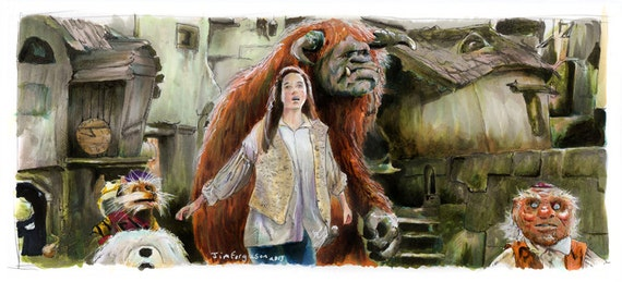 "Labyrinth - Goblin City 5""x11"" Poster Print"