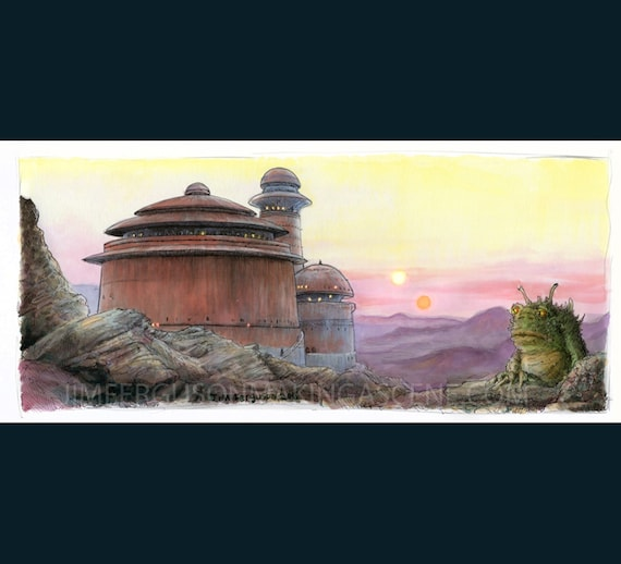 Star Wars- Return of the Jedi - Jabba's Palace  Print By Jim Ferguson
