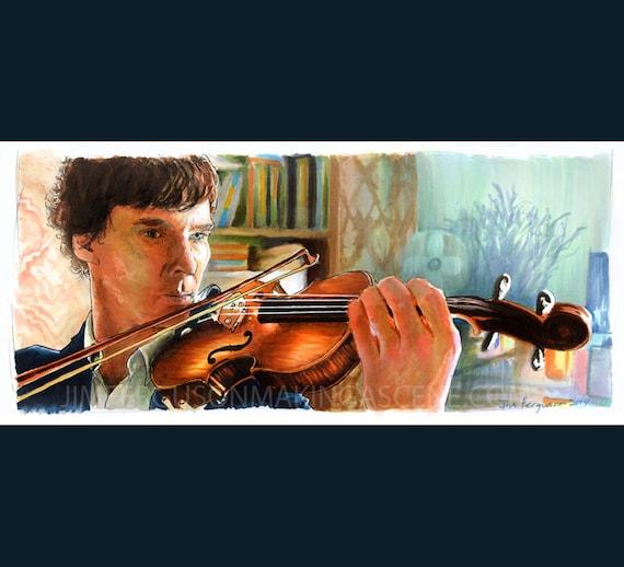 Sherlock - Shelock Holmes  Poster Print By Jim Ferguson