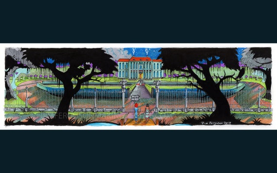Colonel's Bequest - Misty Acres based off Douglas Herring's original drawing redrawn By Jim Ferguson