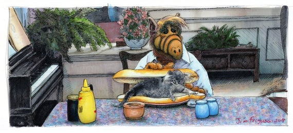 Alf - Any last Meows? Poster Print