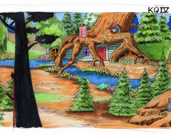 King's Quest IV - Rosella Seven Dwarves House