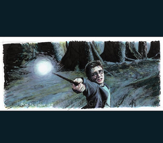 Harry Potter - Expecto Patronum Print By Jim Ferguson