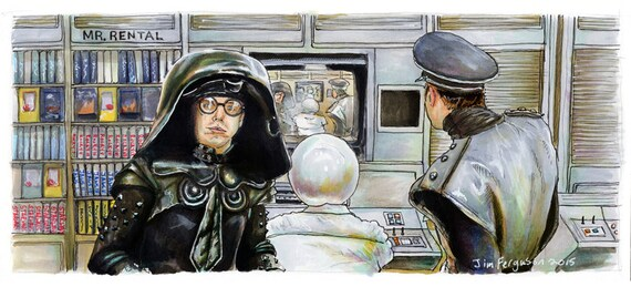 Spaceballs - Mr Rental Print