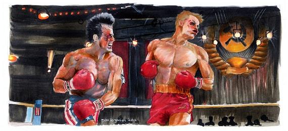 "Rocky IV - I Must Break You 5""x11"" Poster Print"